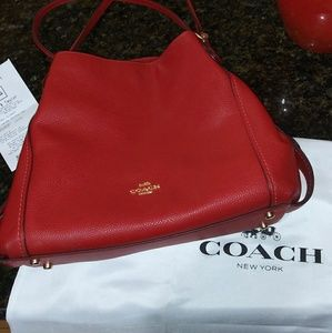 Brand New wot Red Coach Authentic🍒